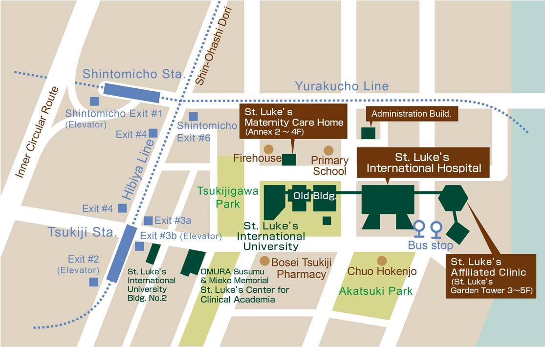 Directions - St  Luke's International Hospital